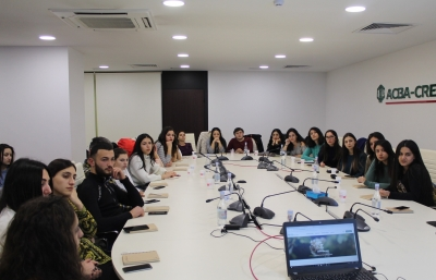 French University of Armenia students in ACBA-CREDIT AGRICOLE BANK