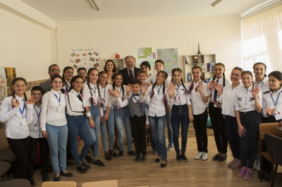 THE CLASS NAMED AFTER CHARLES AZNAVOUR WAS OPENED WITH THE SUPPORT OF STEPAN GISHYAN FOUNDATION